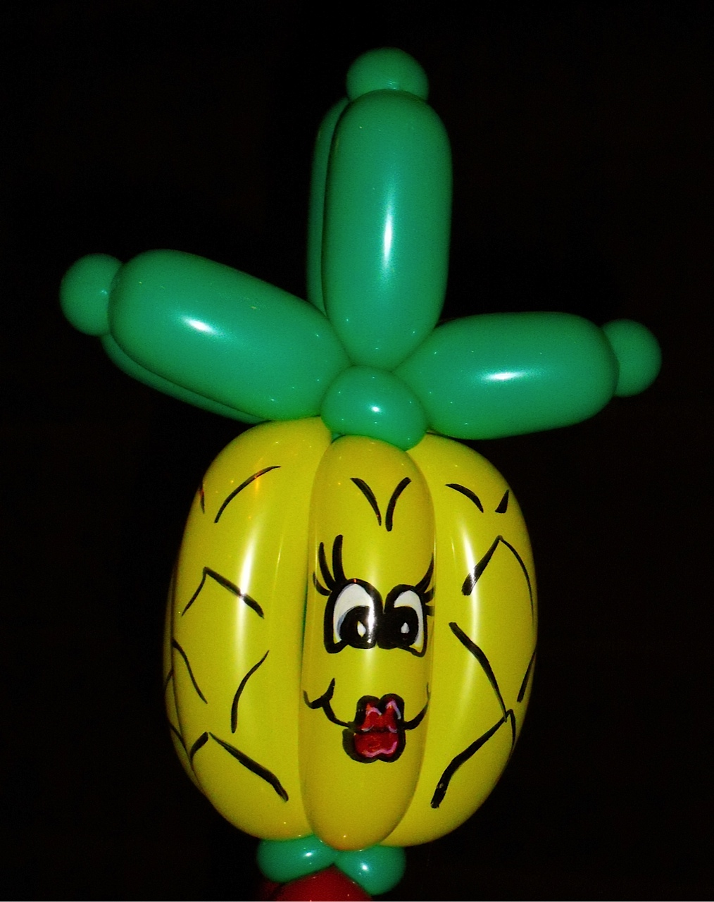 art by riki pineapple balloon