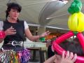riki making balloons